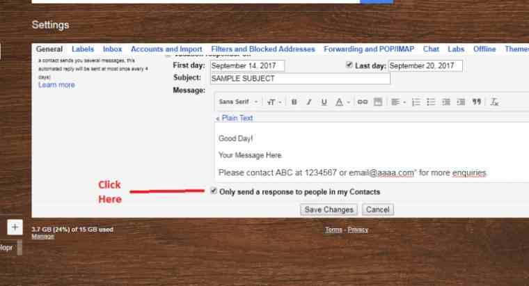 gmail autoreply