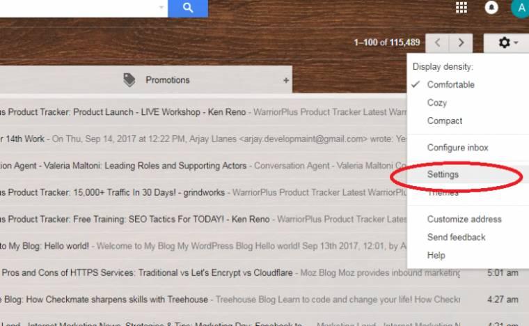 gmail autoresponder feature