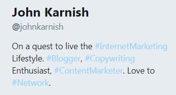 twitter profile description