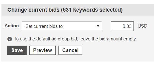 Change current bid