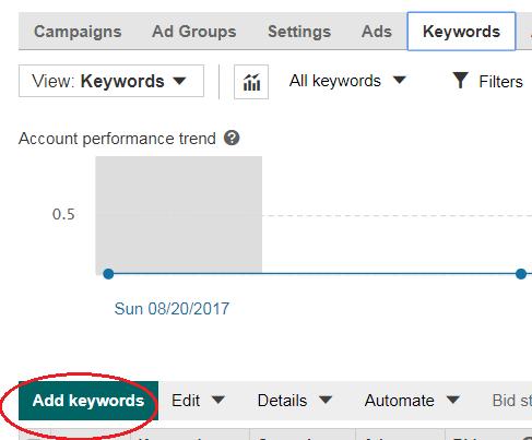 add keywords