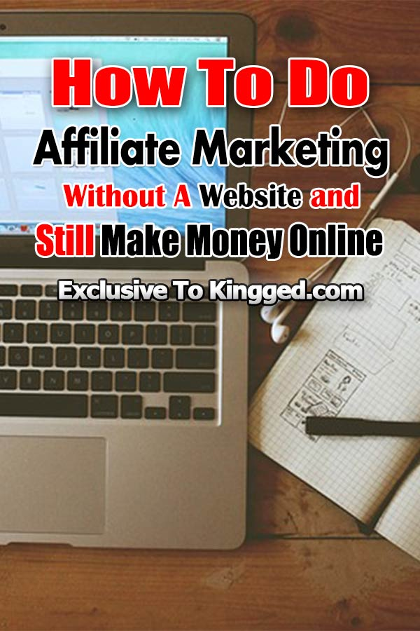 how to do affiliate marketing without a website make money online