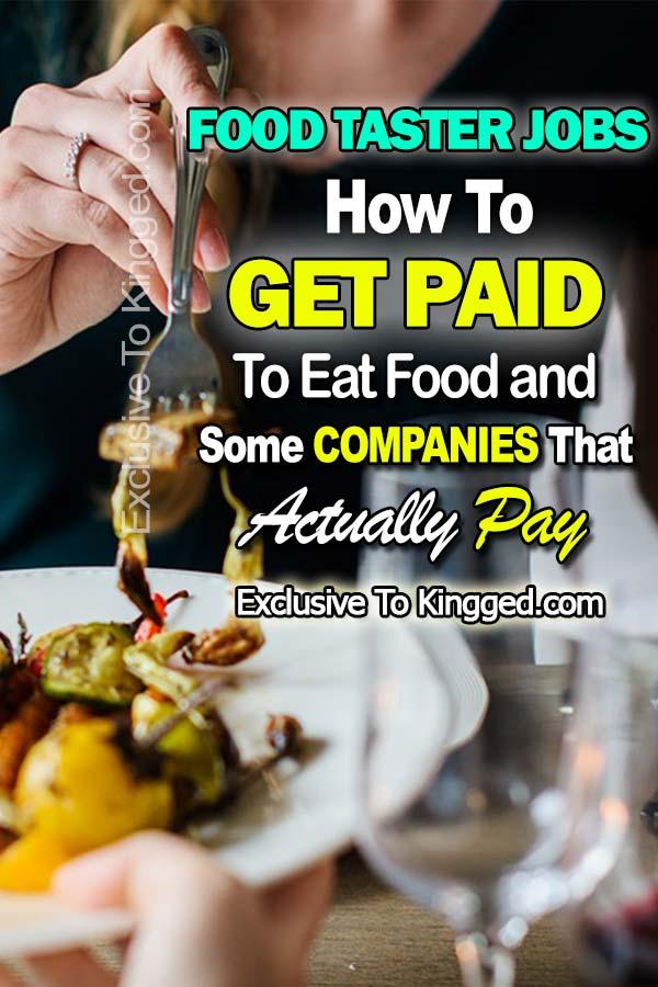 food taster jobs get paid to eat food