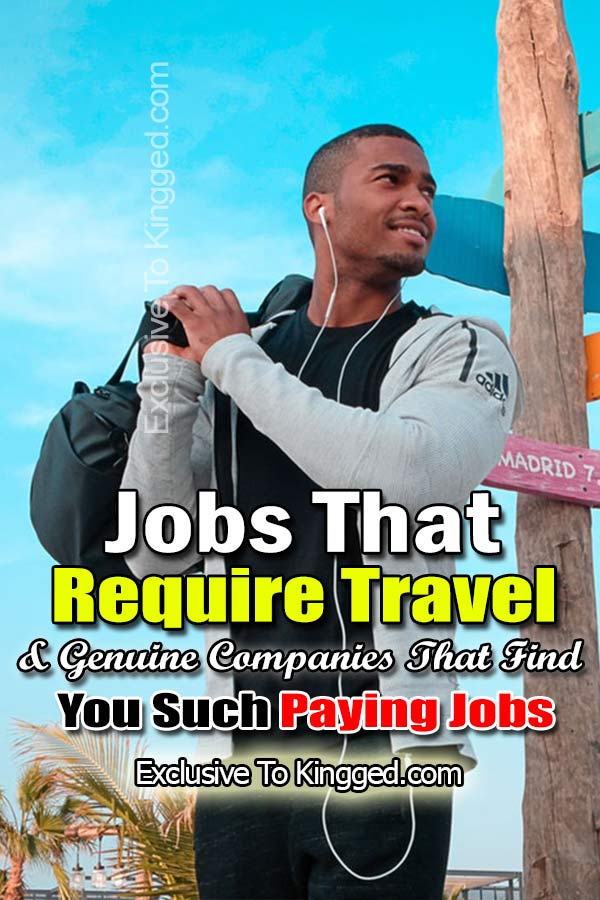 man doing jobs that require travel