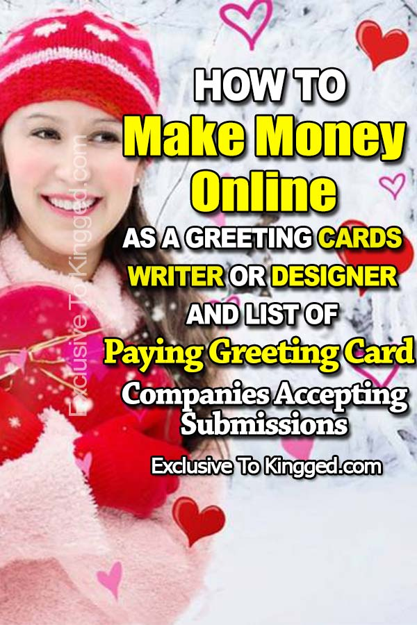 make money online as greeting cards writer designer
