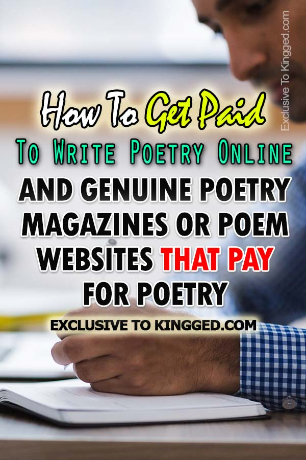 How To Get Paid To Write Poetry