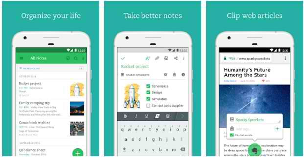 apps for bloggers evernote