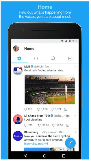 best blog apps twitter