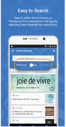 blog apps dictionary