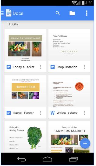 blog apps google docs