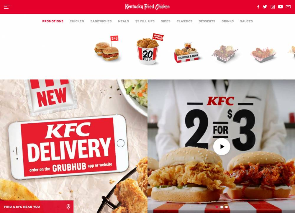Kentucky Fried Chicken Coupons website