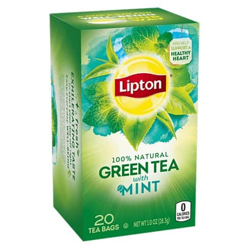 lipton best green tea with mint for weight loss