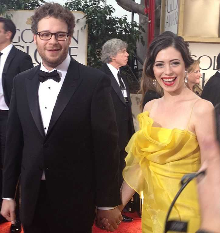 seth rogan and wife Lauren Miller