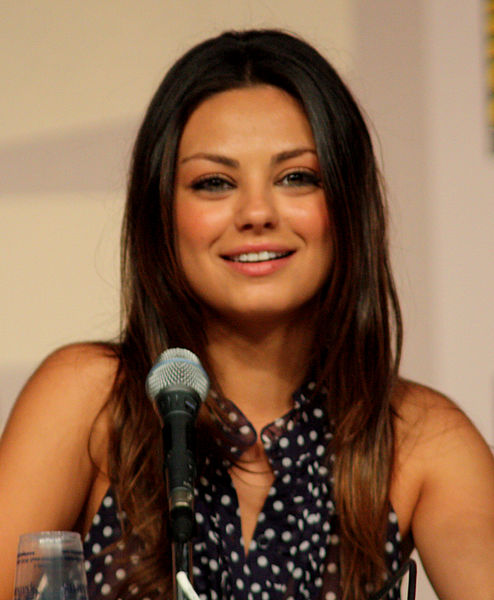 Kunis at the San Diego Comic-Con in 2009 on a Family Guy panel